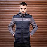 Мужская куртка Harvest (синяя с серой вставкой)S M L XL, фото 8