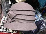 Фетровая шляпа украшенная цветком и тремя складками, фото 2