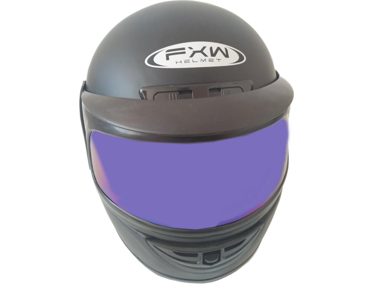 Шлем закритий Black матовий-тоноване скло (Розмір: L)
