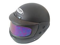 Шлем закритий Black матовий-тоноване скло (Розмір: L), фото 3