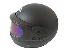 Шлем закритий Black матовий-тоноване скло (Розмір: L), фото 2