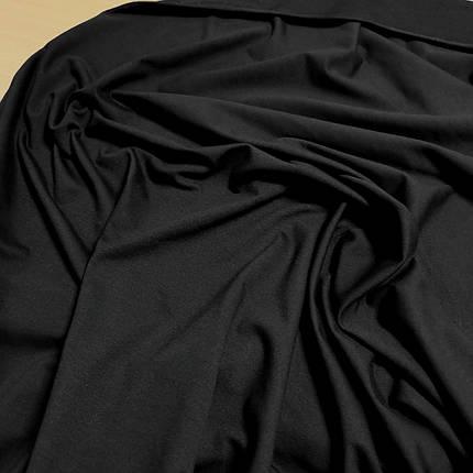 Футер двунитка черная, Турция, 180см, фото 2