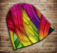 Шапка с 3D принтом-rainbow color Все размеры, все сезоны.