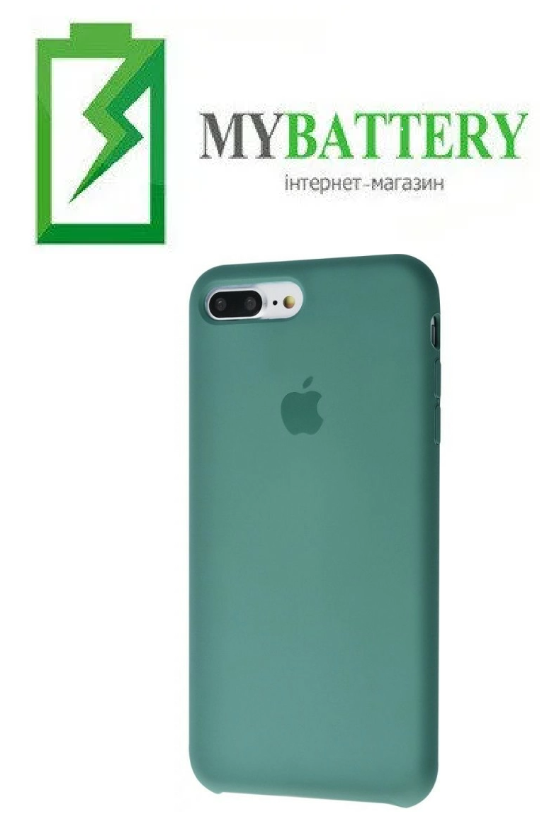 Чехол Silicone Case original (чехол-бампер) iPhone 7 Plus/ 8 Plus зеленый (55)