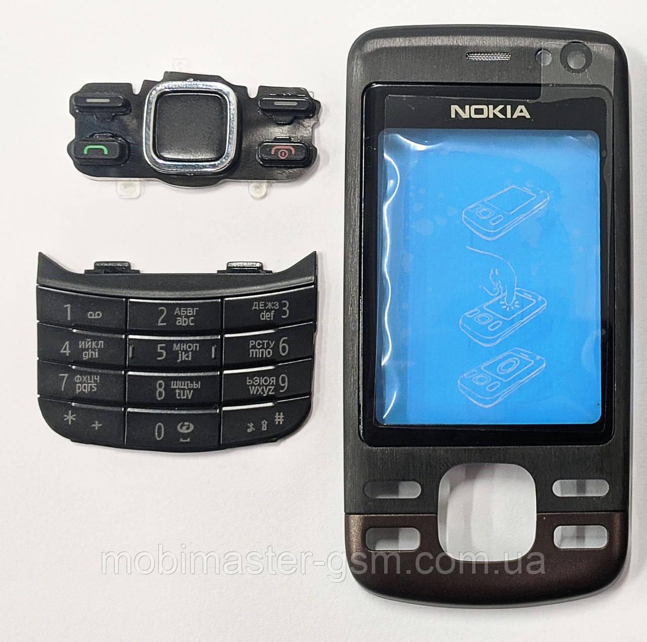 Корпус Nokia 6600i slide черный