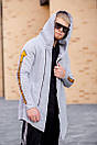 Мужская утепленная на флисе мантия Gangster, Grey, фото 5