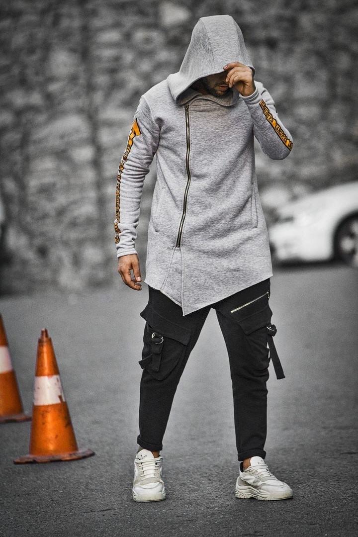 Мужская утепленная на флисе мантия Gangster, Grey