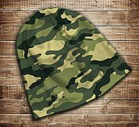 Шапка с 3D принтом-Camuflage classic Все размеры, все сезоны.