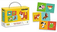 ХИТ!Домино детское DoDo 300137,ламинированный картон,28 фишек