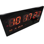 Годинник великі електронні з термометром, настільні цифрові годинник з календарем