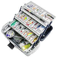 Ящик кейс для рыбалки инструмента снастей Aquatech 2703 3 полки для поплавков блёсен грузил