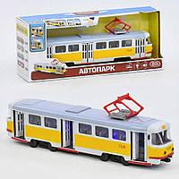 Игрушечный Трамвай для детей 9708 В со светом и звуком