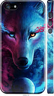 "Чехол на Apple iPhone 5 Арт-волк ""3999c-18-21792"""