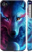 "Чехол на Apple iPhone 4s Арт-волк ""3999c-12-21792"""