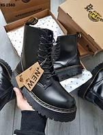 Женские демисезонные ботинки Dr.Martens Jadon (черные) KS 1560