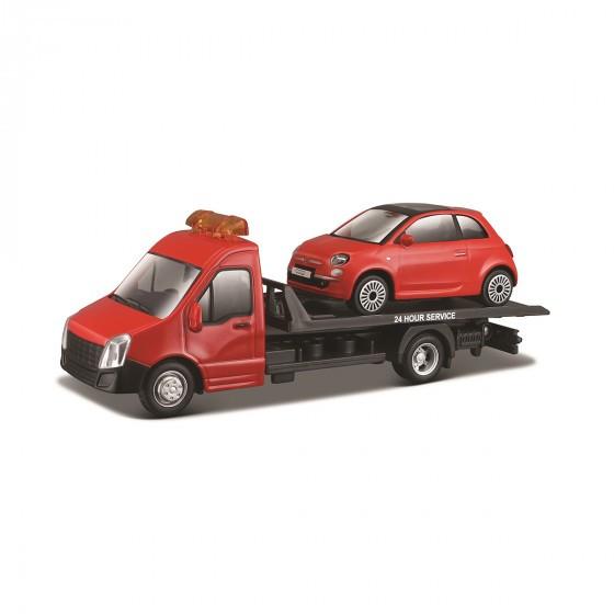 Игровой набор - Автоперевозчик c автомоделью FIAT Bburago 18-31402