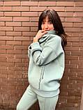 Стильный модный женский тёплый зимний костюм на флисе Крам, фото 6