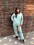 Стильный модный женский тёплый зимний костюм на флисе Крам, фото 3