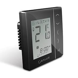 Зональный недельный программатор температуры Salus VS30B проводной, 230В, скрытого монтажа (черный)