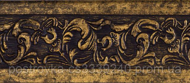 Лента декоративная на карниз, бленда Богемия 62 Антик бронза 70 мм на усиленный потолочный карниз КСМ