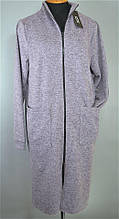 Халат теплый батальный на молнии. Женские халаты.