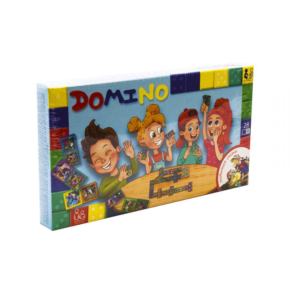 """Настольная игра """"Домино: Любимые сказки"""" DTG-DMN-01,02"""
