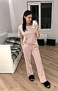 Розовый плюшевый костюм штаны и футболка  Orli, фото 2