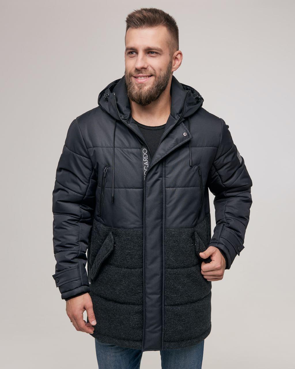 Чоловіча зимова куртка ZD-02 чорна
