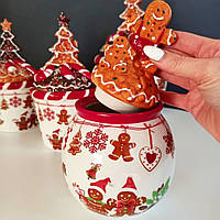 Банку для солодощів керамічна Печиво 1л, фото 1