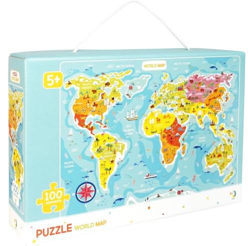"""Пазлы """"Карта мира"""", 100 элементов (английский язык) 300123"""