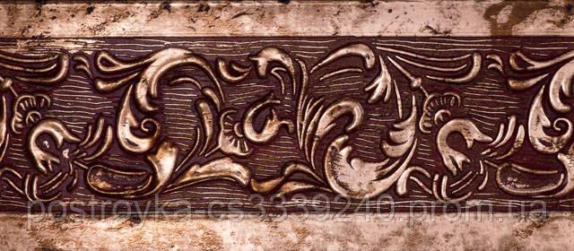 Лента декоративная на карниз, бленда Богемия 311 Антик медь 70 мм на усиленный потолочный карниз КСМ