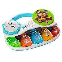 Развивающая игрушка пианино Мишка BABY TILLY 7504 для малышей интерактивная игрушка цифры, голоса зверей