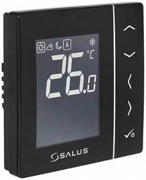 Зональный терморегулятор суточный Salus VS35B проводной, 230В, скрытого монтажа (черный)