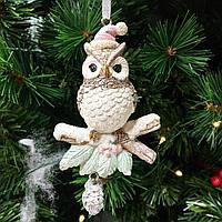 Новогоднее украшение подвесное Совушка, 11см, фото 1