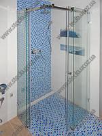 Душевые кабины из стекла с раздвижными дверьми