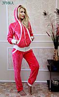 Удобный женский костюм для дома и отдыха велюр/махра ЭРИКА FLEUR Lingerie