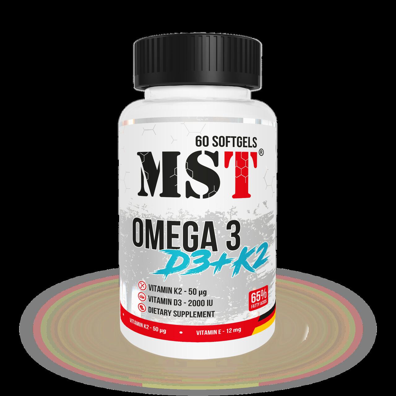 MST omega 3 + D3 + K2 - 60 caps