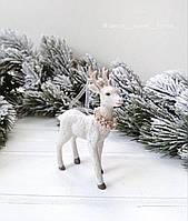 Новогоднее елочное украшение Олень 10.5см, фото 1