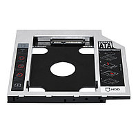 DVD-карман для HDD 2.5 дюйма, SATA - SATA, 12,7 мм, TRY Caddy Optibay с переключателем режимов, алюминий новый