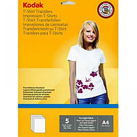Бумага для термопереноса Kodak Transfer глянцевый перенос на черную ткань (Формат: A4 (210x297 mm), Плотность