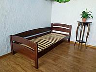 """Кровать односпальная """"Марта"""" с подъемным механизмом 90х200 из массива дерева (цвет на выбор)"""