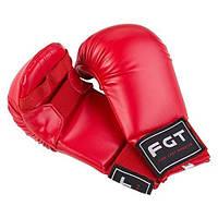Накладки для карате FGT, PU4009, M Красный