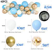 Комплект для создания арки из шаров - 40 шаров