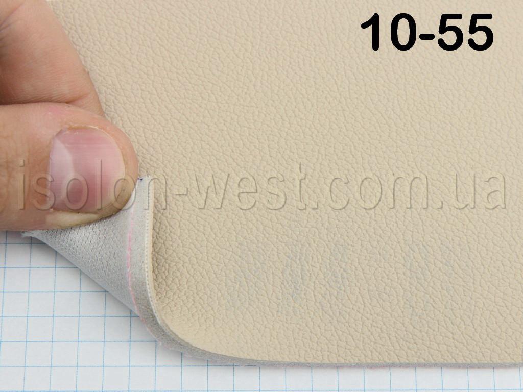 Автомобильная экокожа 10-55 (светло-песочный) для сидений на поролоне и сетке 5 мм, ширина 1.50м
