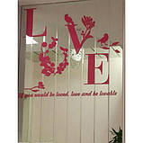 """Акриловая 3D наклейка """"Love"""" красная роза, фото 5"""