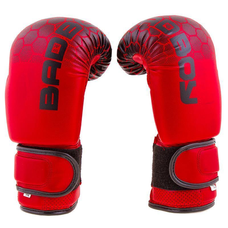 """Боксерские перчатки BadBoy""""жираф"""", DX, 8,10,12oz синий, красный 12, Красный"""