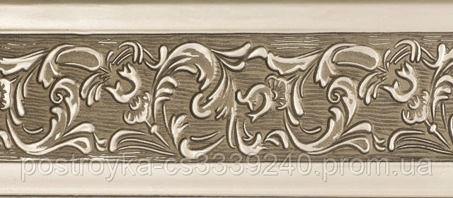 Лента декоративная на карниз, бленда Богемия 341 Бронза 70 мм на усиленный потолочный карниз КСМ