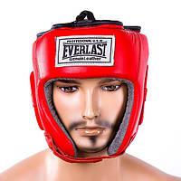 Шлем Everlast кожаный XL, Красный, фото 1