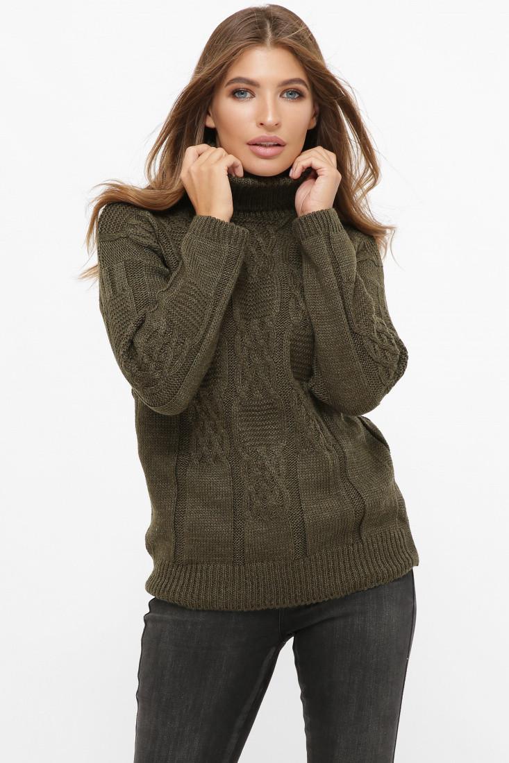 Стильный женский вязаный свитер. Разные цвета