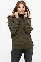 Стильный женский вязаный свитер. Разные цвета, фото 1